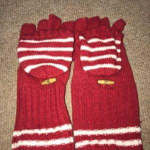 cute red mittens